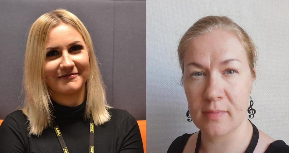 Johanna Jääskeläinen ja Minttu Villikka kuvassa.