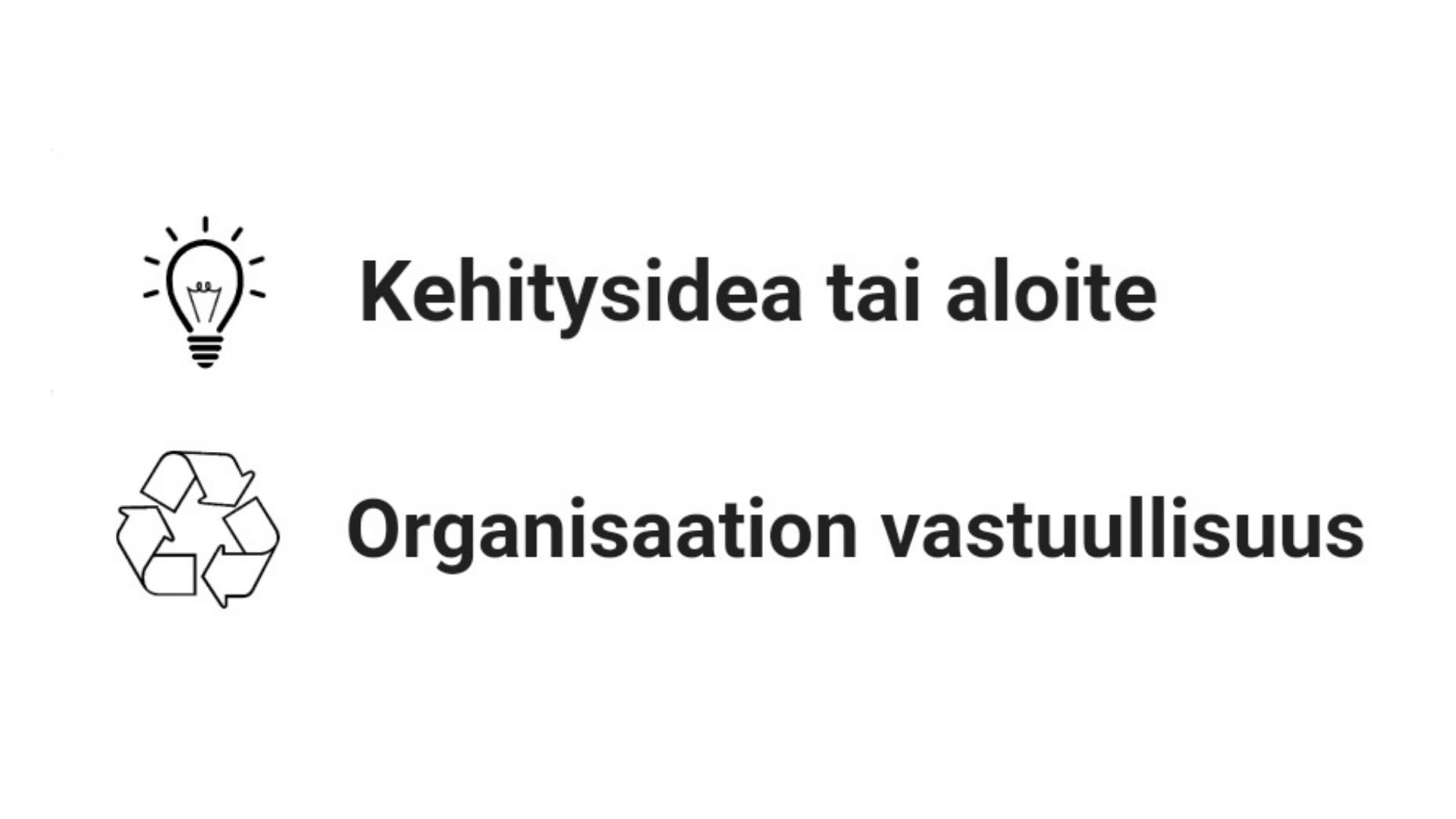 Kehitysidea tai aloite ja organisaation vastuullisuus